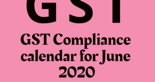 GST Compliance calendar for June 2020